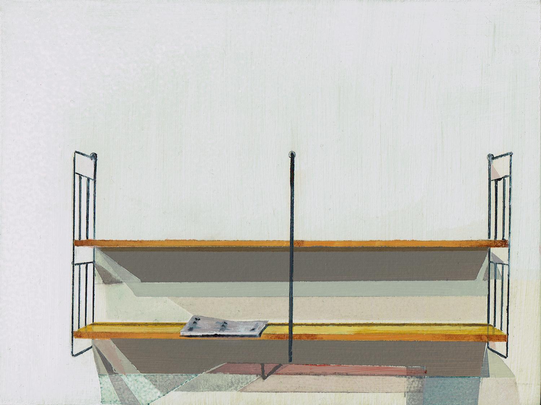 Shelves with magazine. Richard Baker. Jackson's Painting Prize.