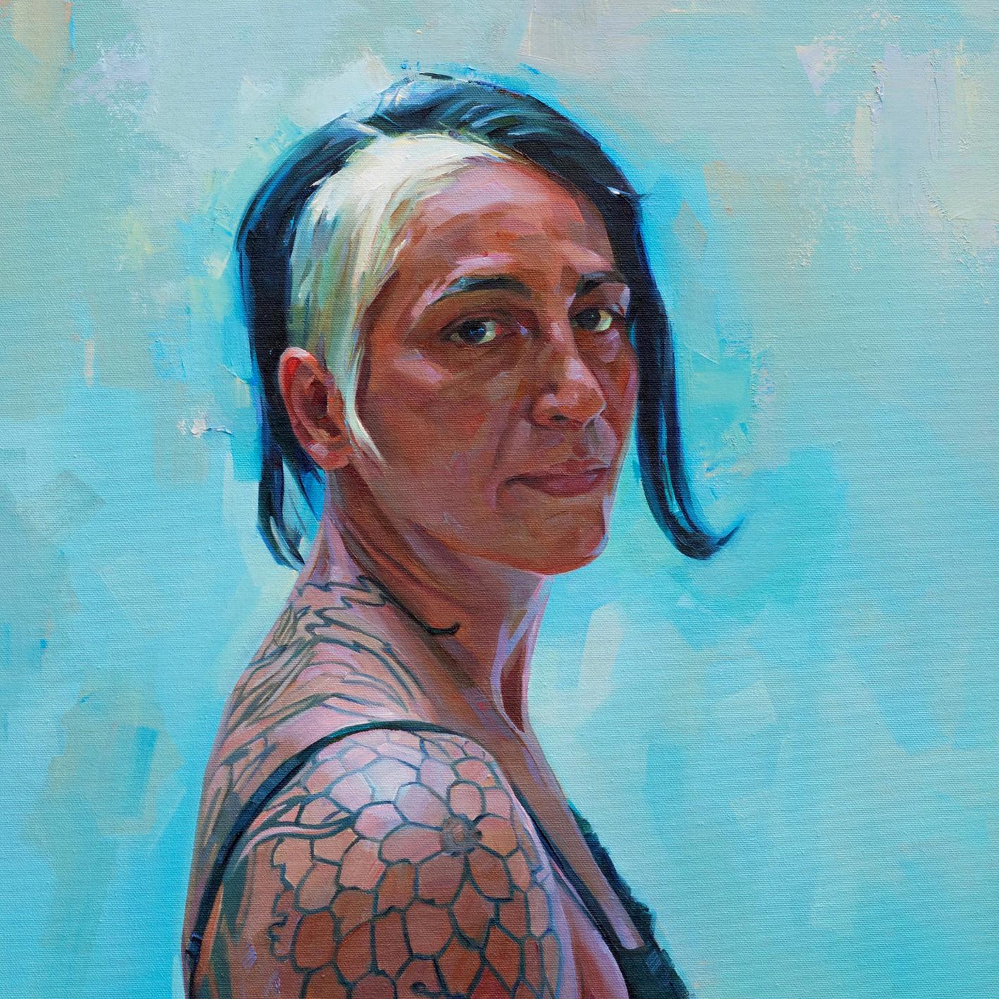 Tia, Tom Croft Oil on canvas, 71.1 x 50.8 cm