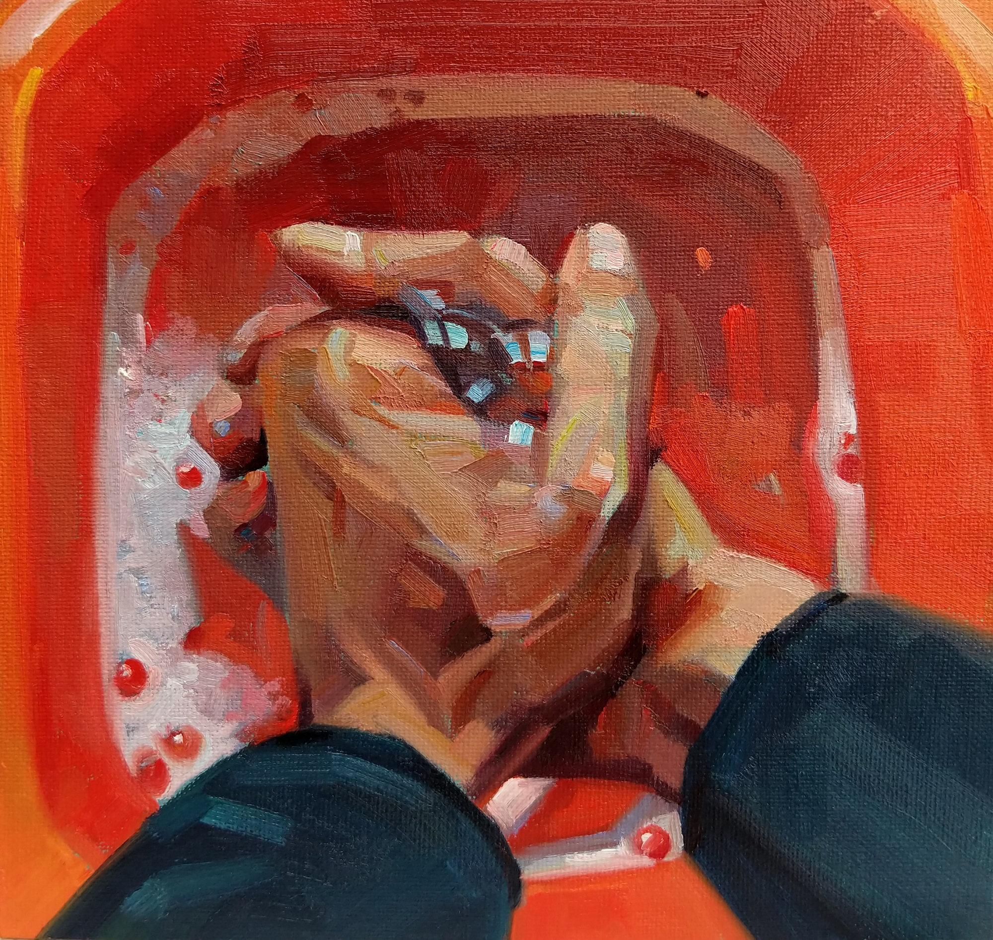 Wash your hands Tom Croft Oil on canvas, 30 x 30cm