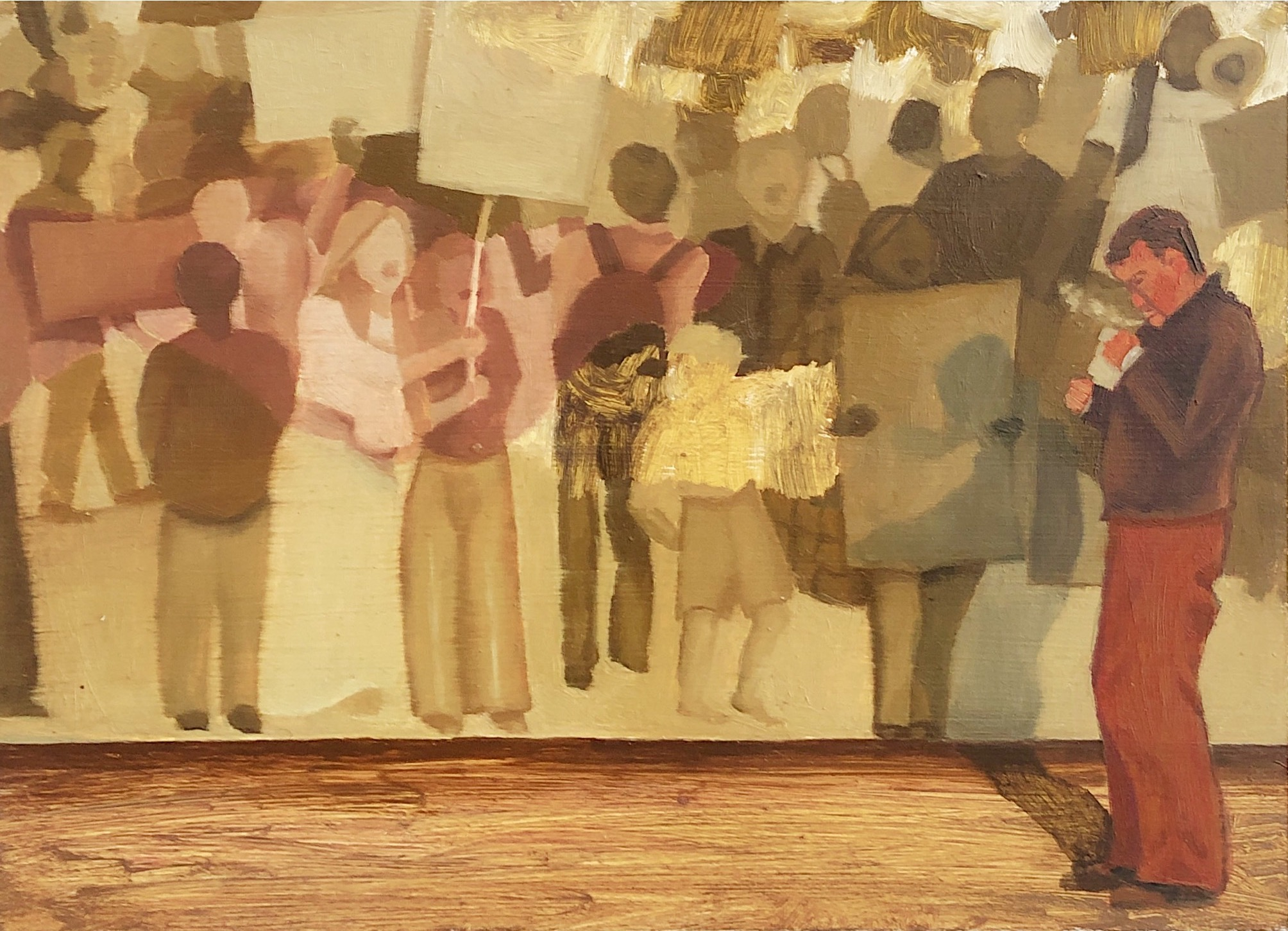 Smoke Break. Anne Carney Raines. Jackson's Painting Prize.