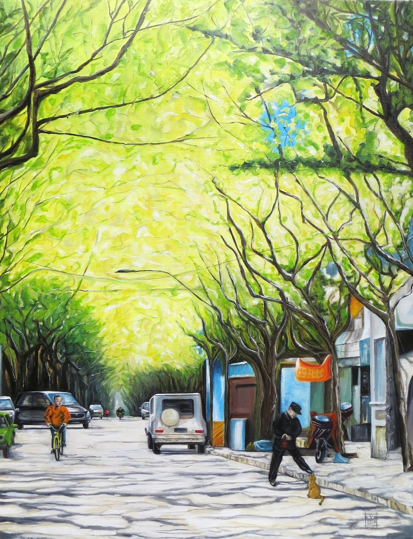 Shanghai's green tunnel. Guilaine Veneziani. Jackson's Painting Prize.
