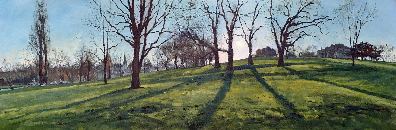 Mark McLaughlin. Winter Plain Air Painting.