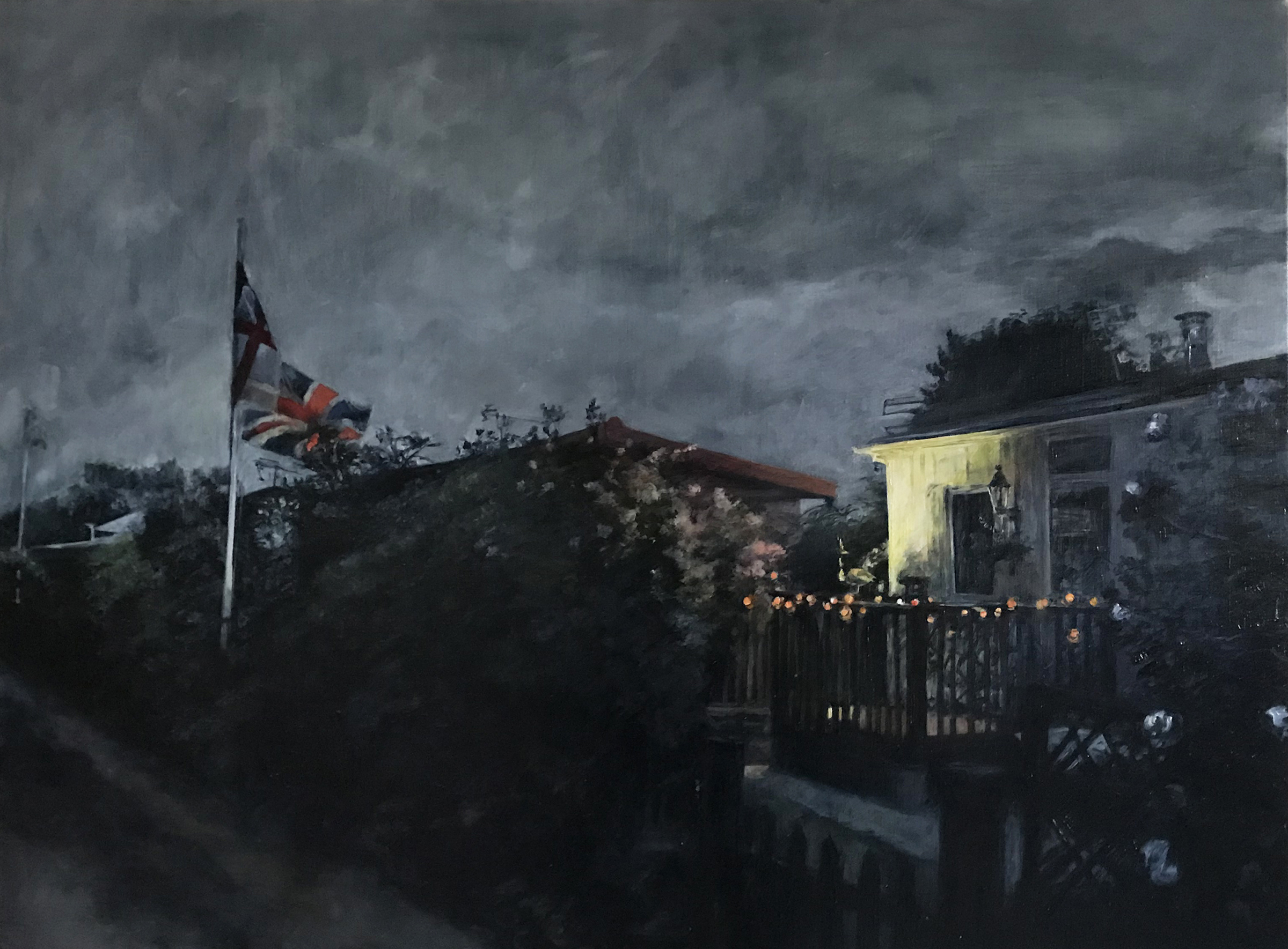 Night Fitties Why destroy a thing of beauty? Judith Tucker. Jackson's Painting Prize.