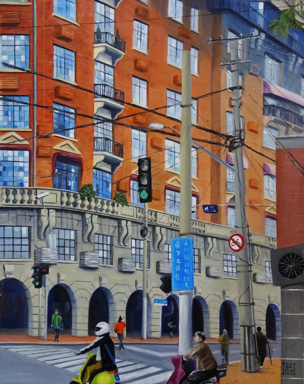 Wukang mansion looming large. Guilaine Veneziani. Jackson's Painting Prize.