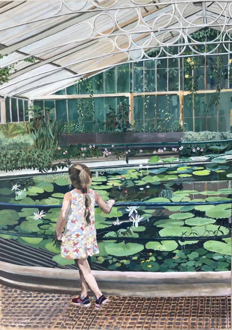 Waterlily house, Kew Gardens. Jackson's Painting Prize.