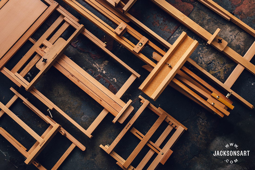A selection of Jackson's easels