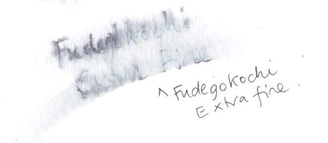 Kuretake Fudegokochi Japanese Brush Pen, Fine dilute on cold pressed paper