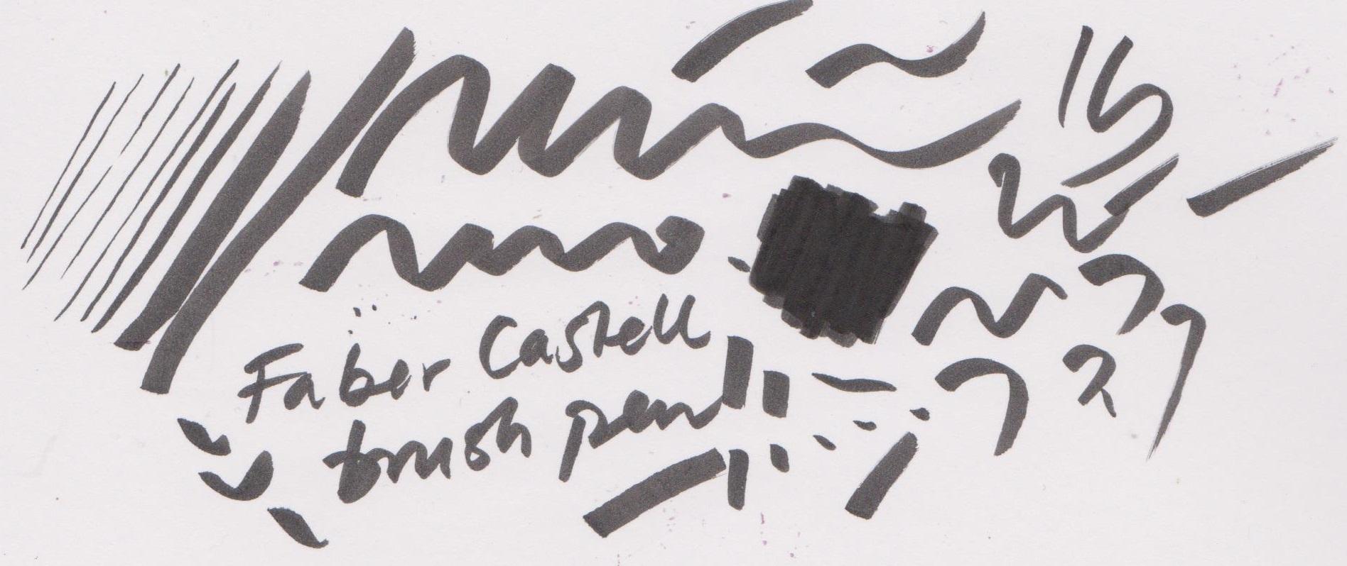 Faber Castell Pitt Artist Pen - Brush on Birstol board