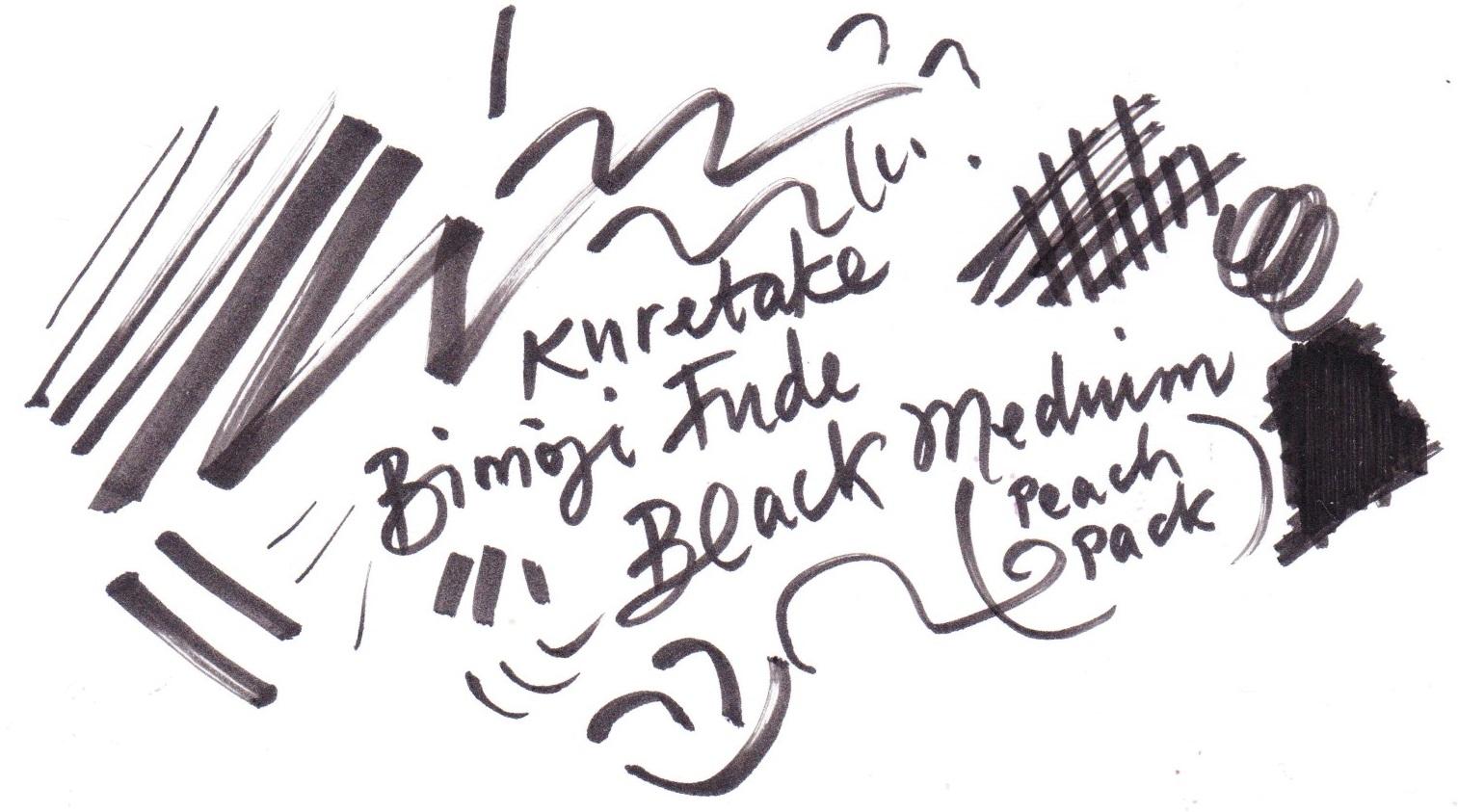 Kuretake Bimoji Fude medium on Bristol board
