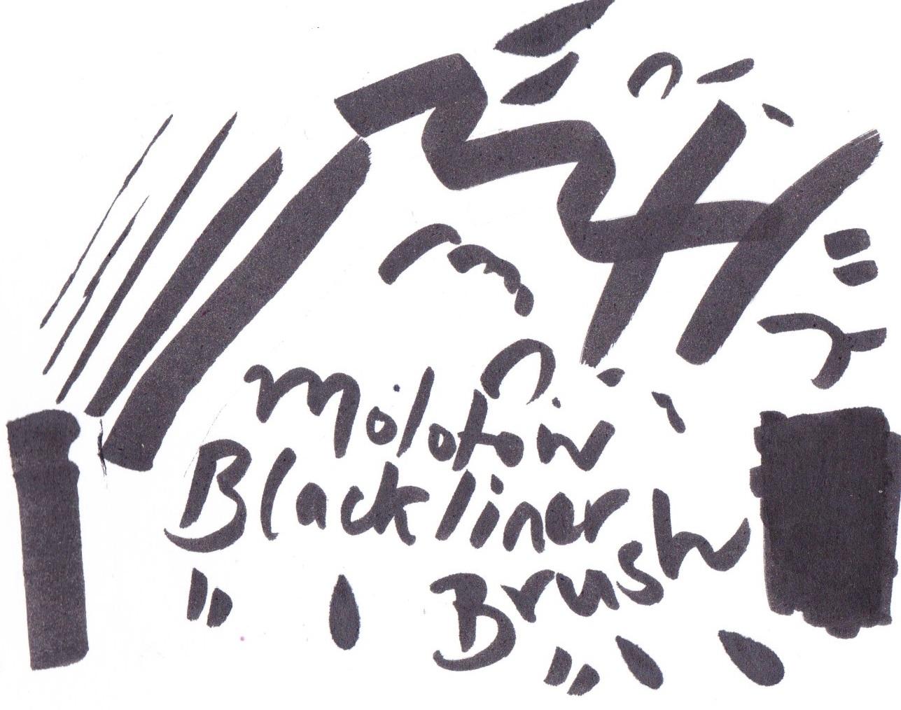 Molotow Blackliner Brush Pen on Bristol board