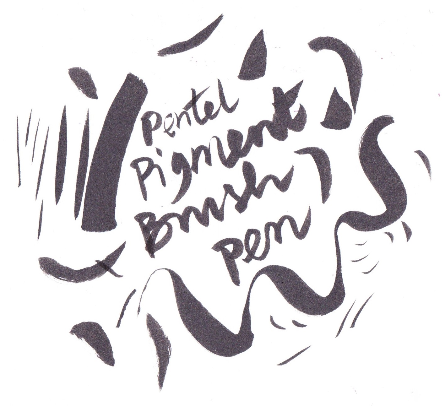 Pentel Pigment Brush pen on Bristol board