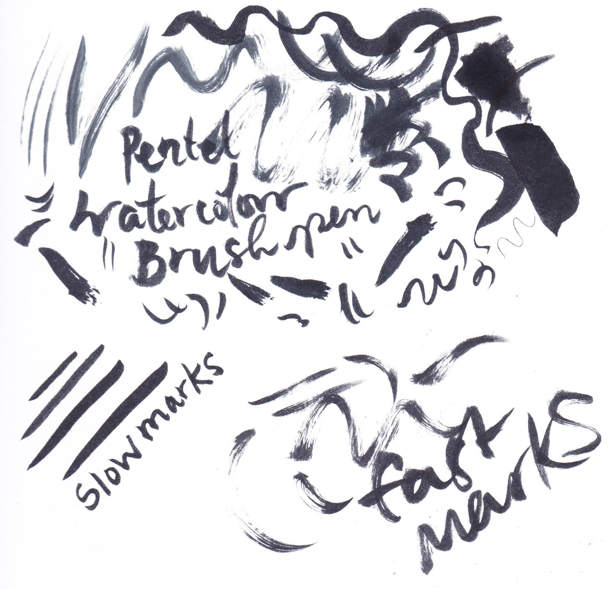 Pentel Watercolour Brush Pen on Bristol board