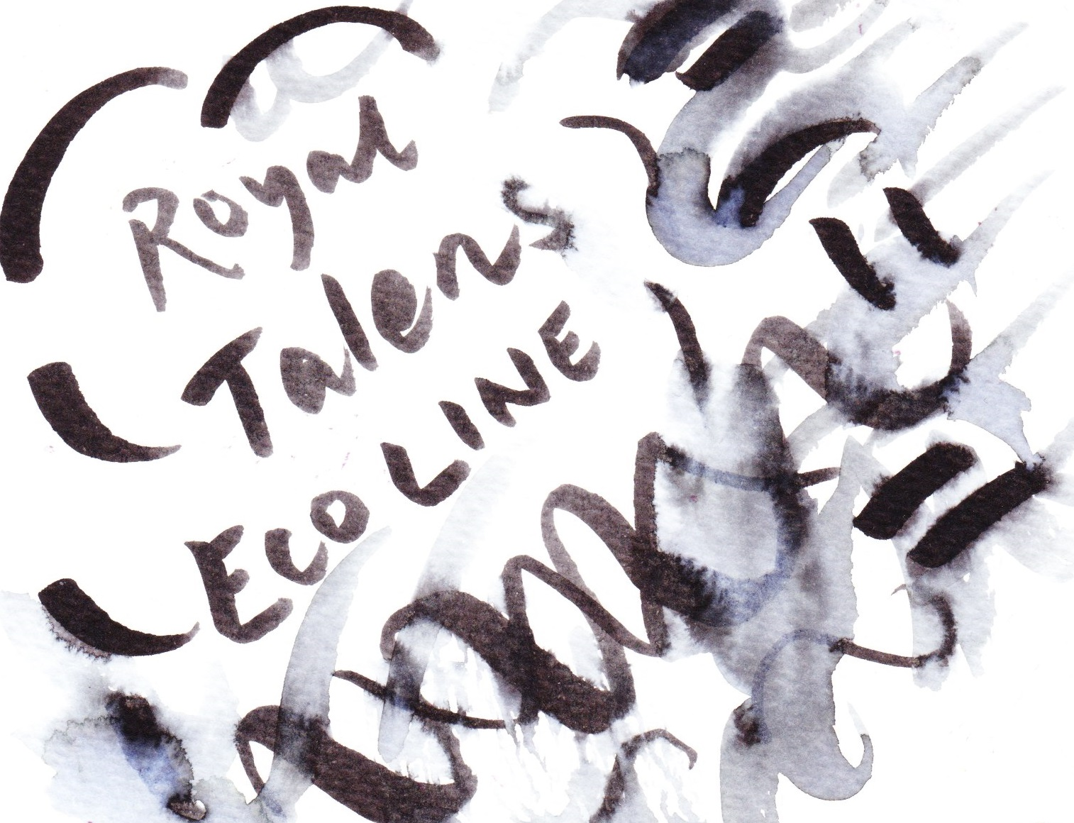 Royal Talens Ecoline diluted on cold pressed paper