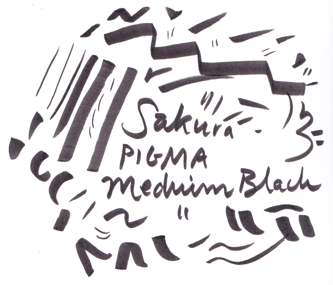 Sakura Pigma Medium nib on Bristol board