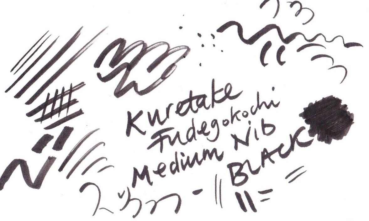 Kuretake Fudegokochi Japanese Brush Pen, Medium on Bristol board