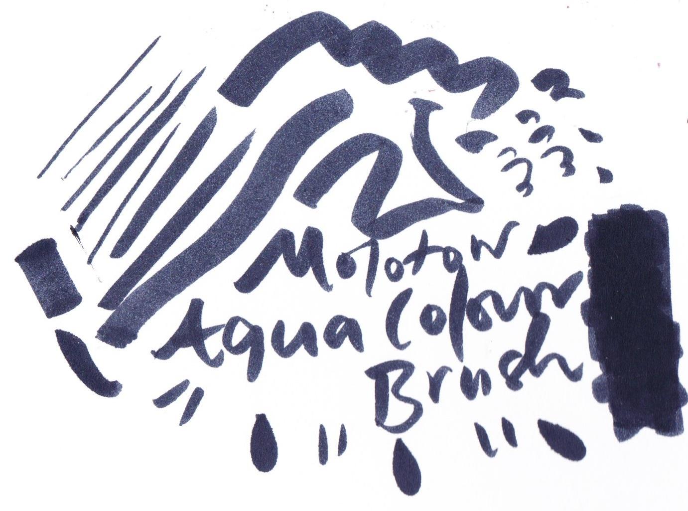 Molotow Aqua Colour Brush Marker, Deep Black on Bristol board