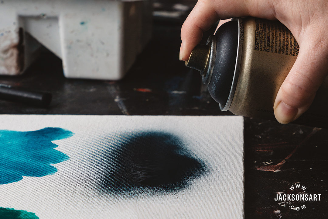 Spray paints: blended techniques, thin and even applications, stencilling