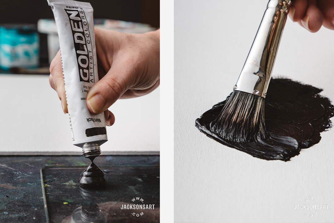 Heavy body paint: medium - thick applications of paint / impasto techniques