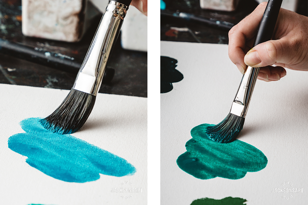 Acrylic ink: stains of colour, splashes, application with airbrush or pipette, layers and washes