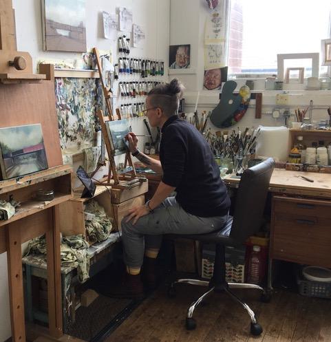 Jen Orpin in studio