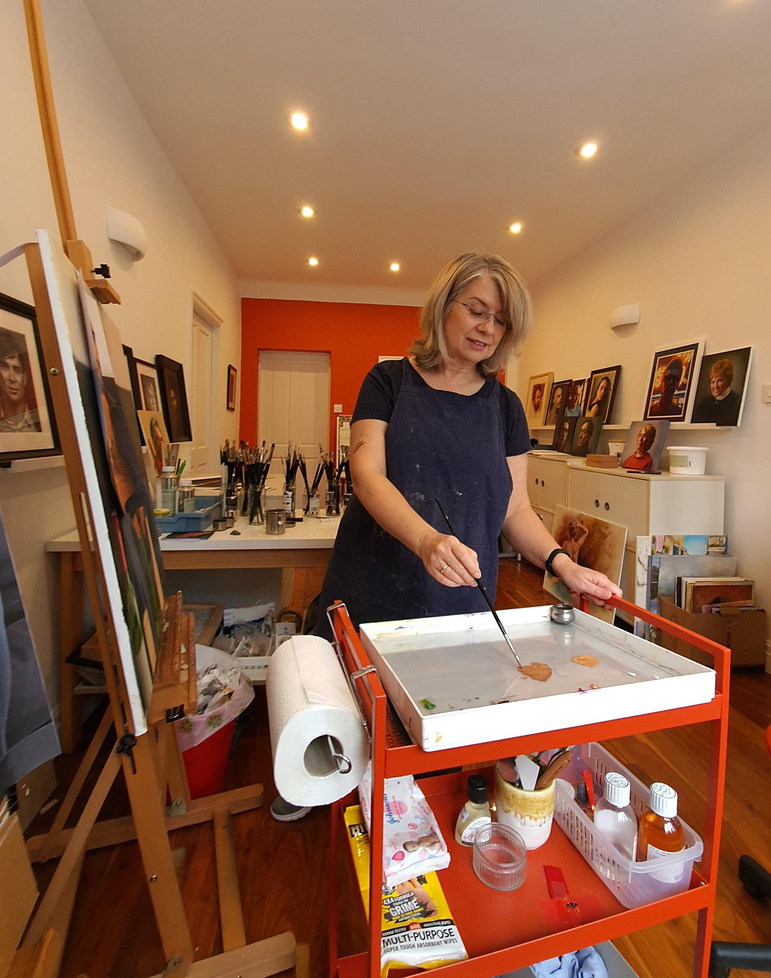 Judith Booth in studio