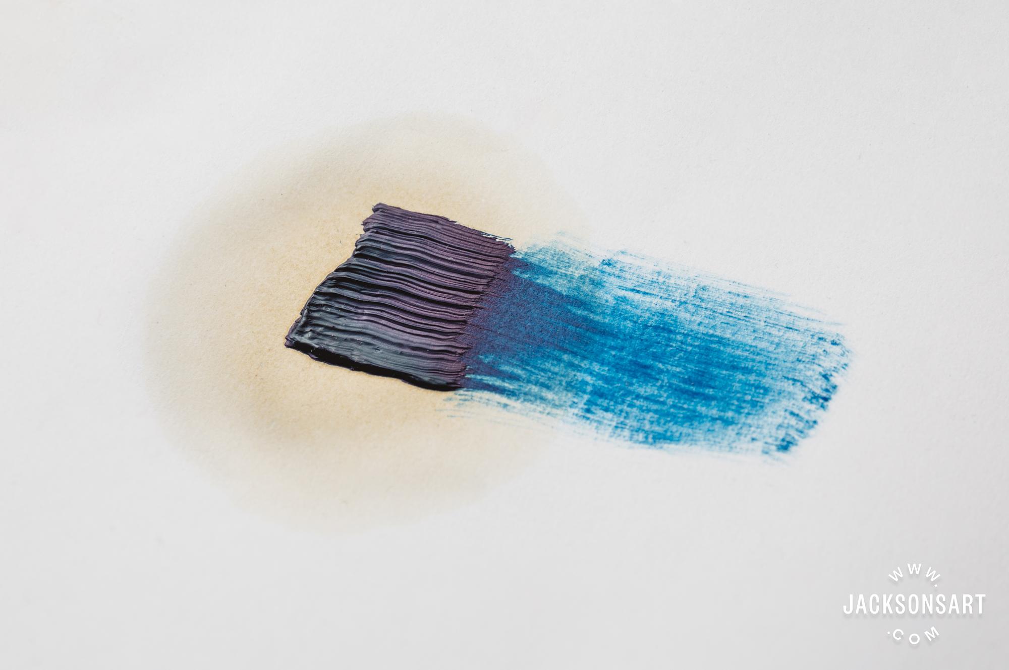 oil halo on unprimed paper