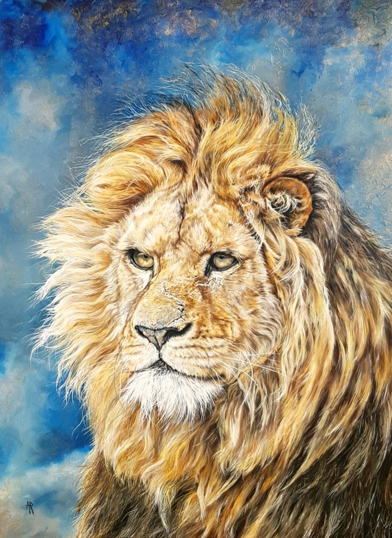 'Arthur', Anna Reed, Oil on gesso board, 61 x 46 x 0.5 cm