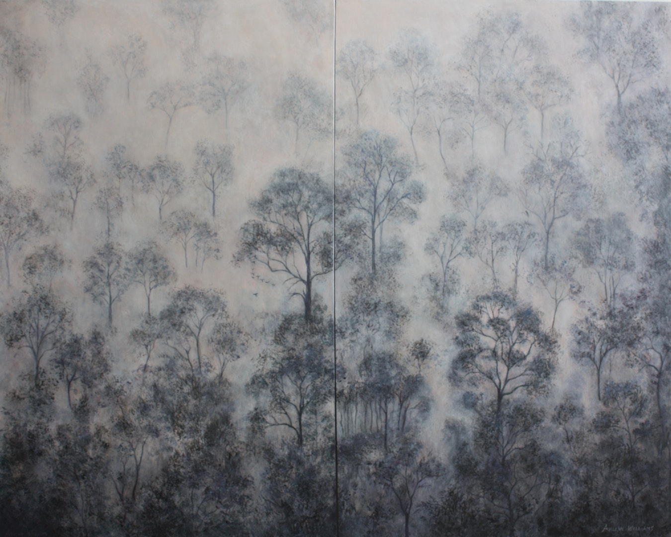 'Cathedral Forest (Diptych)', Arlene Williams, Acrylic, 122 x 152 x 2 cm