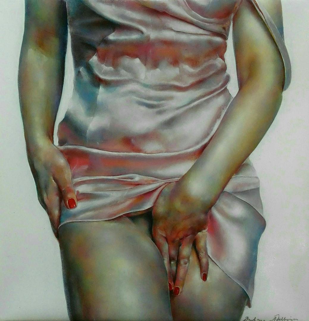 'xxx', Barbara Abeltina, Oil on canvas, 30 x 30 x 2 cm