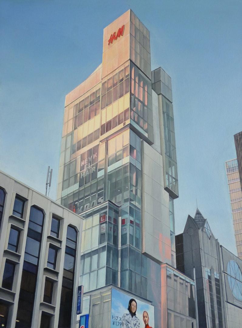 'Shibuya', Bianca MacCall, Acrylic on Board, 40.5 x 30.5 x 4.0 cm