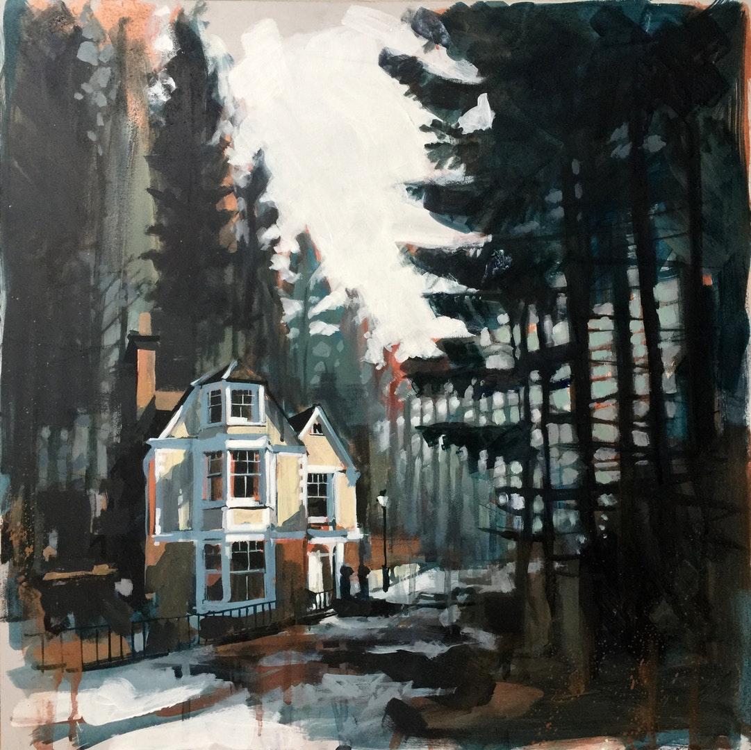 'Wildwood', Camilla Dowse, Acrylic on panel, 50 x 50 x 0.5 cm