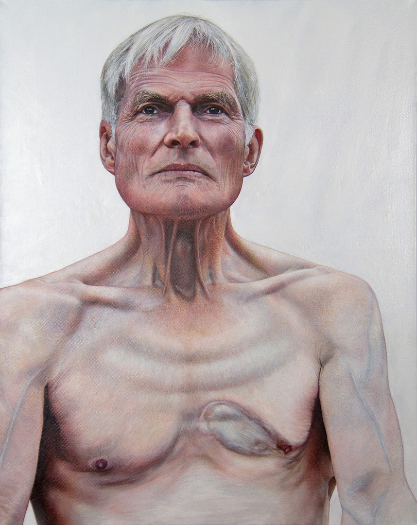 'Our John', Caroline Pool, Oil on canvas, 76 x 61 x 4 cm