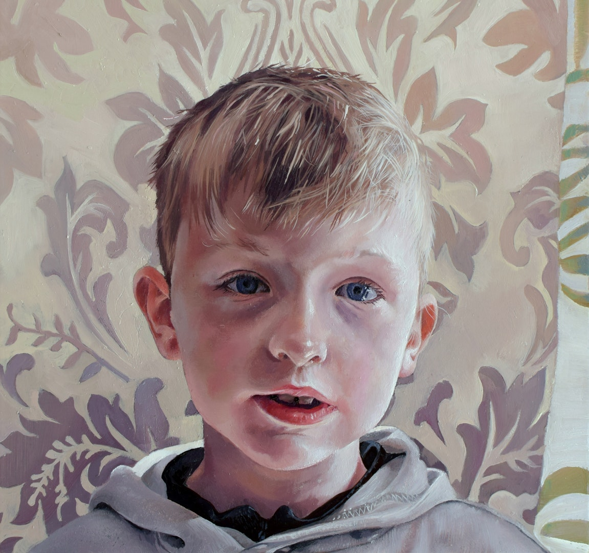 'This Is Me', Catherine MacDiarmid, Oil on board, 20 x 20 x 2 cm