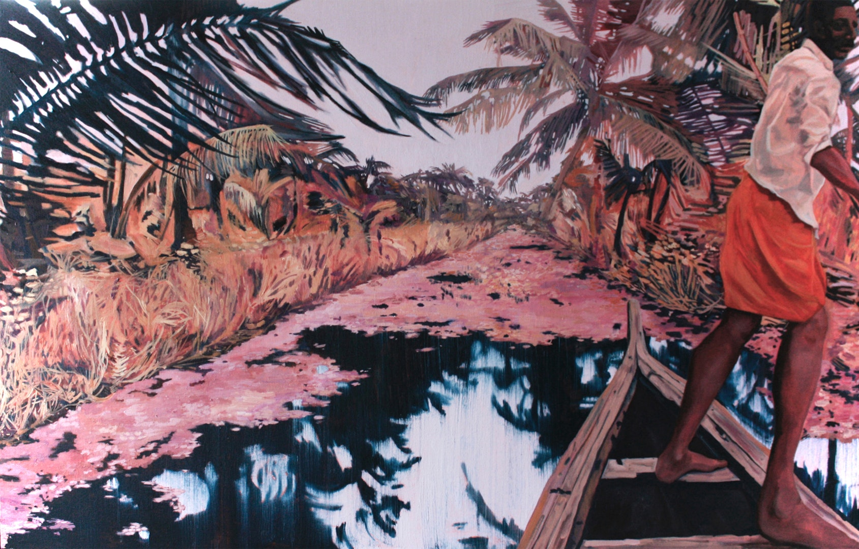 'Backwater Dream', Claire Cansick, Oil on canvas, 76 x 123 x 4 cm