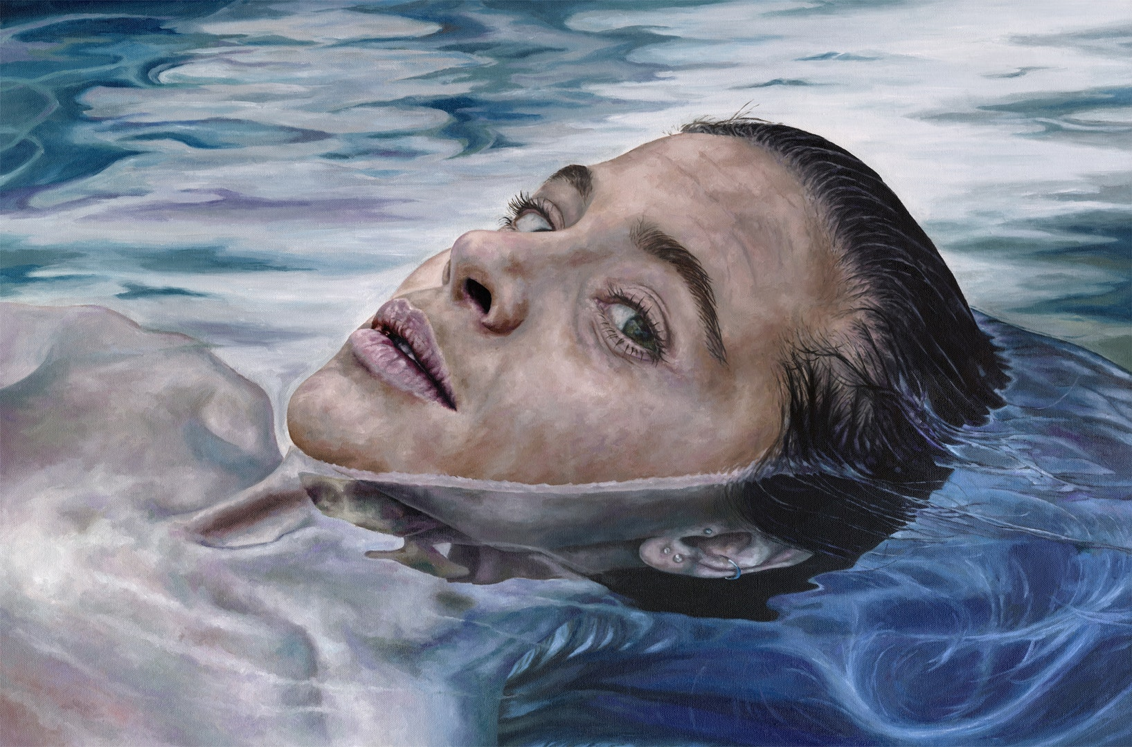 'Treading Water', Corinne Young, Oil on canvas, 61 x 91.5 x 4 cm