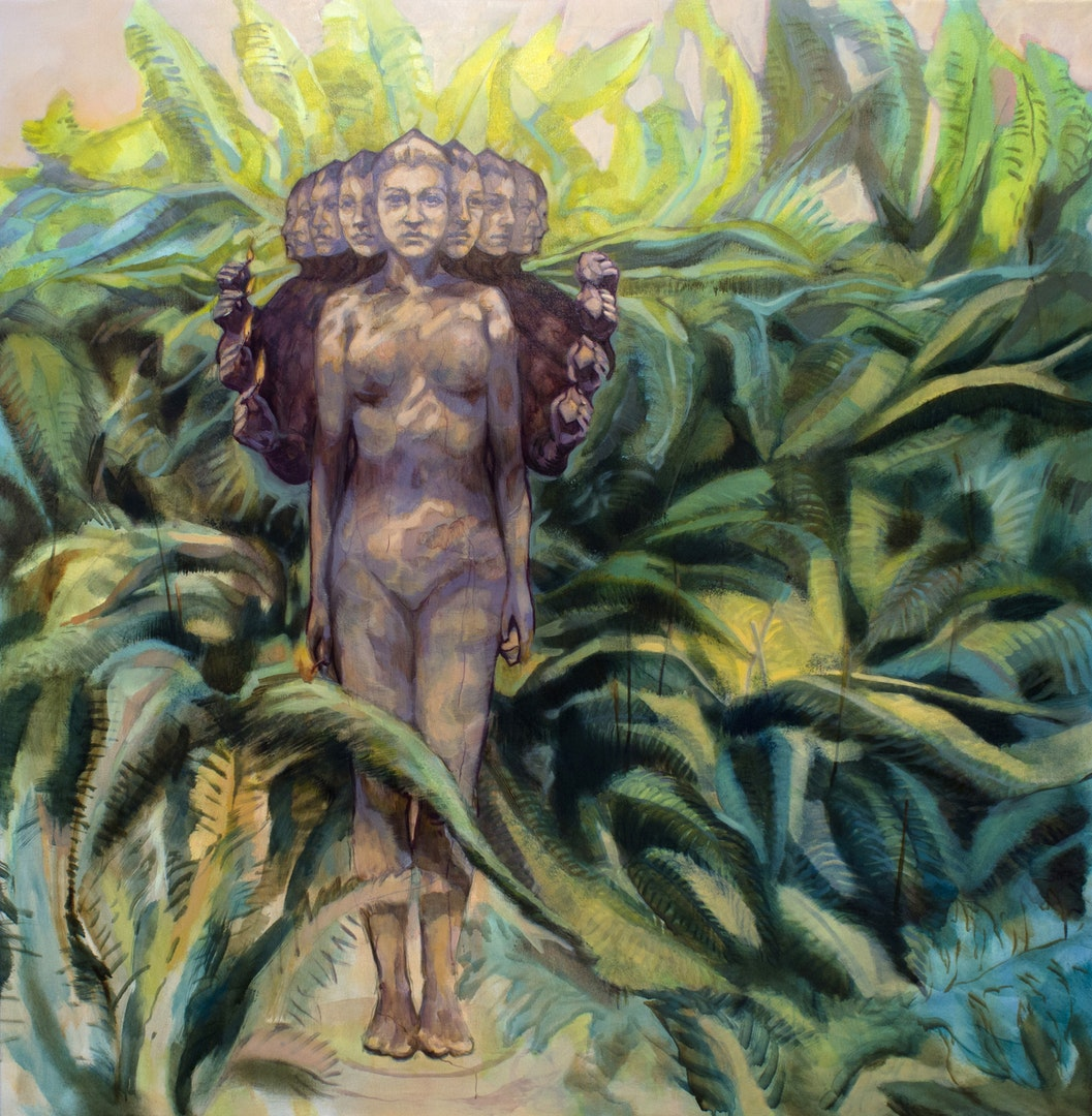 'Fern Forest', Daiana Lukacs, Oil on canvas, 145 x 142 x 3 cm