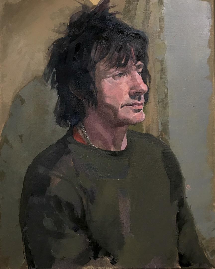'Ian', Dan Ferguson, Oil on linen, 41 x 51 x 2 cm