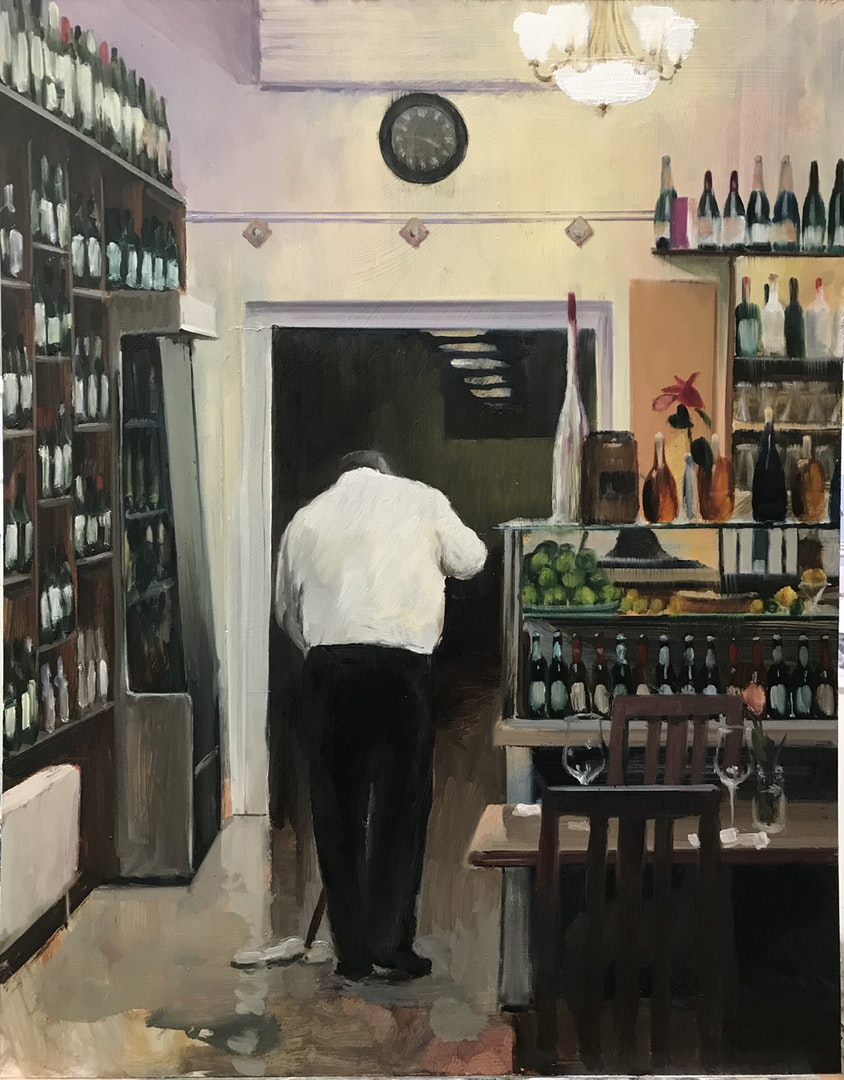'3.45 pm', David Edmond, Oil on board, 61 x 48 cm
