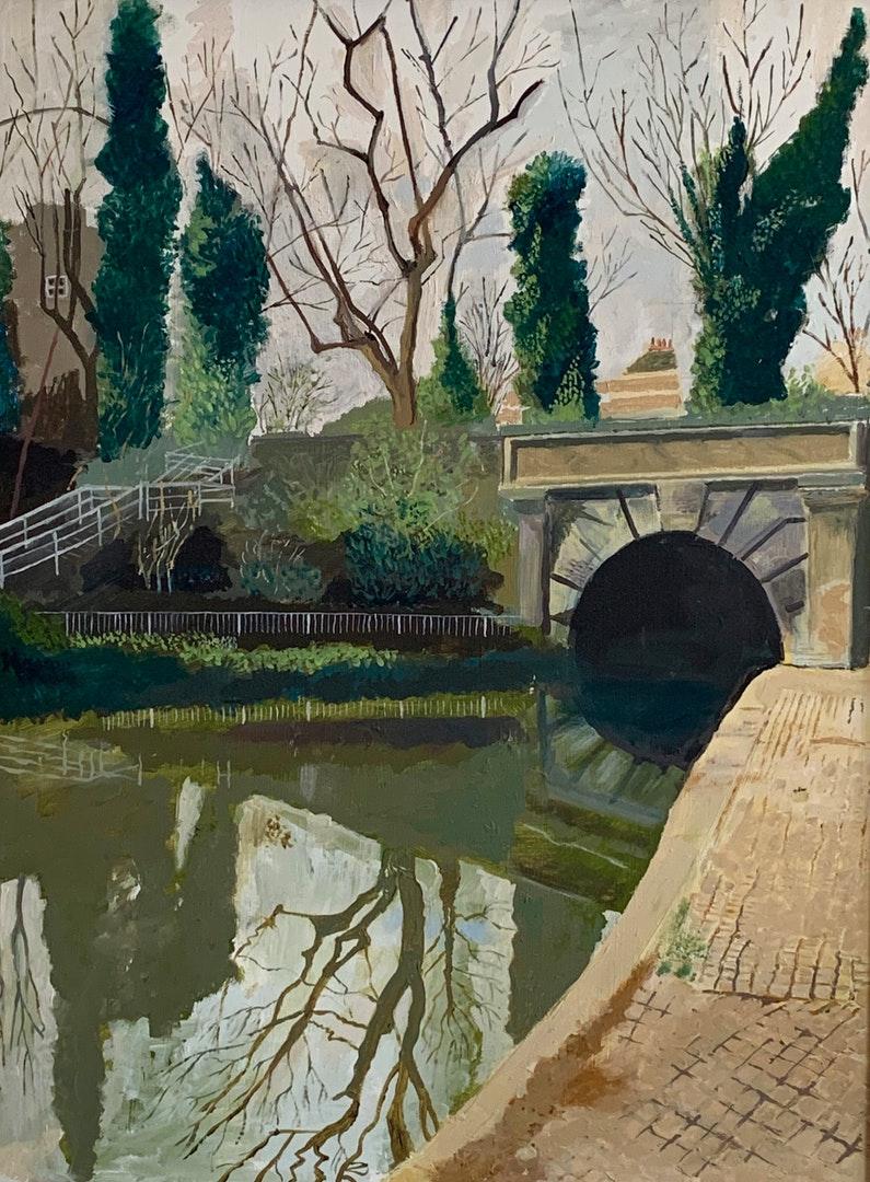 'Islington tunnel', Denis Hussey, Oil on board, 60 x 45 cm