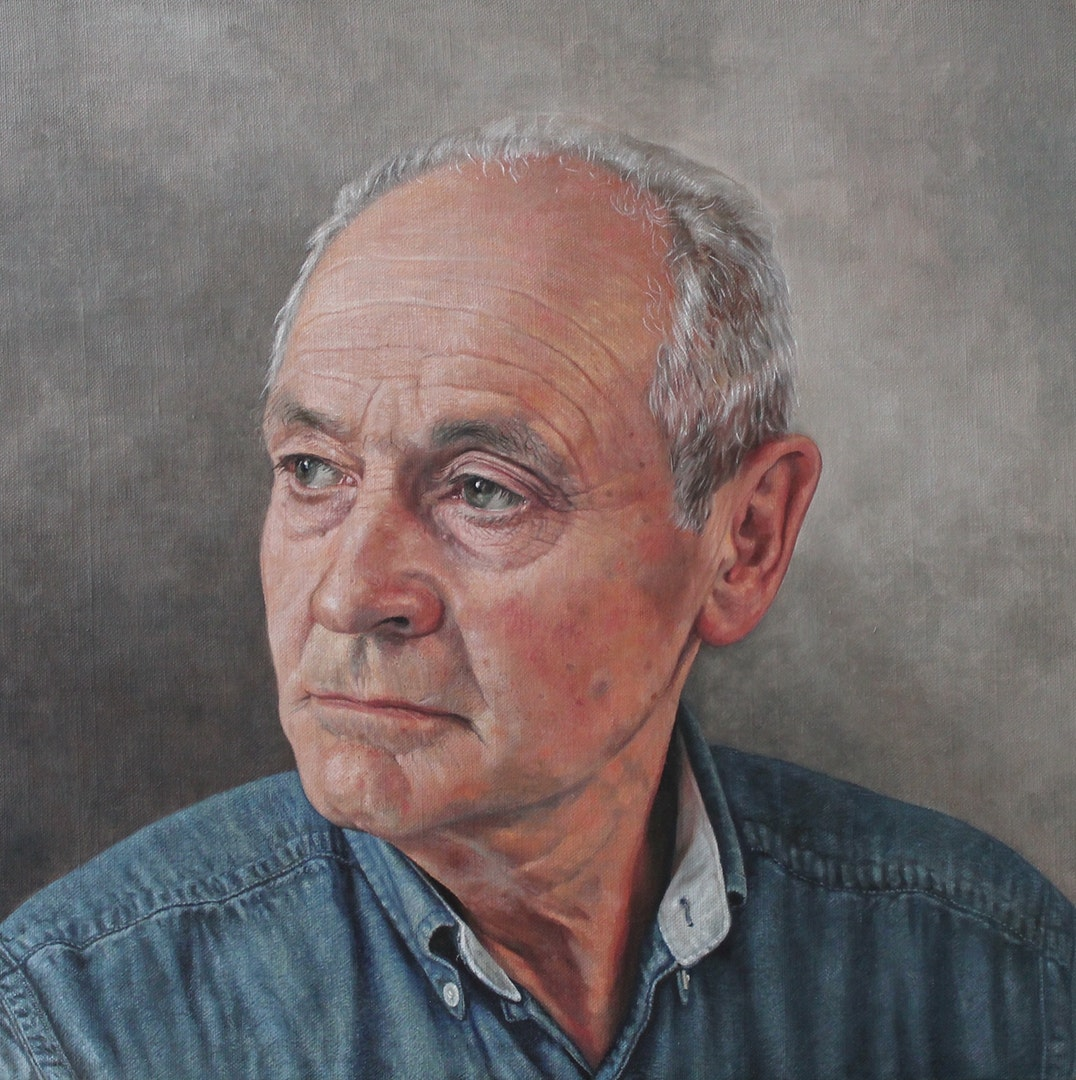 'Dad', Estelle Day, Oil on linen board, 40 x 40 cm