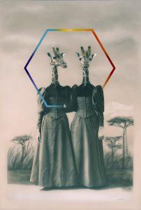 'Habitat memories 2', Gisela Banzer, Acrylic on canvas, 120 x 80 x 2.5 cm