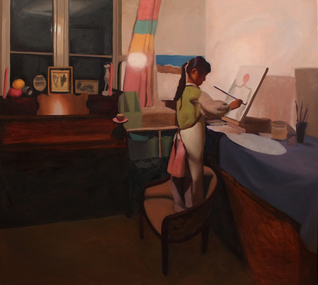 'Isabella painting', Helen Perkins, Oil on canvas, 110 x 150 x 3 cm
