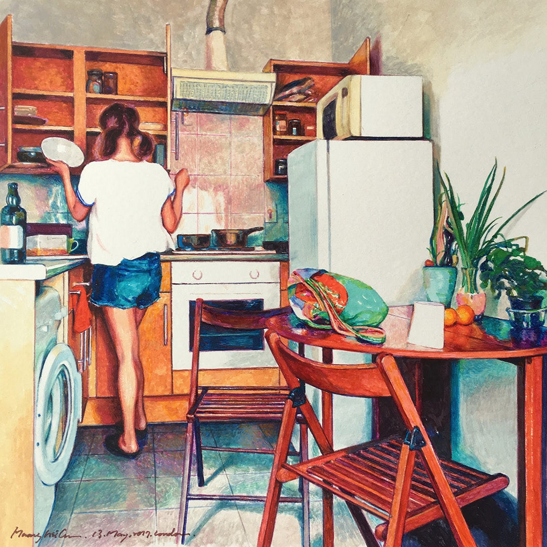'Let Us Cook', Hsi Chun Huang, Watercolour, 21 x 21 cm