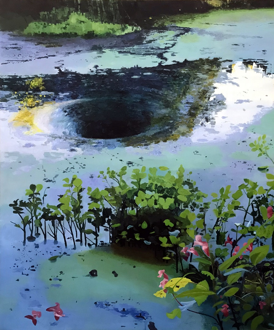 'Canal Anomalies', iain Nicholls, Oil on canvas, 122 x 91 x 3 cm