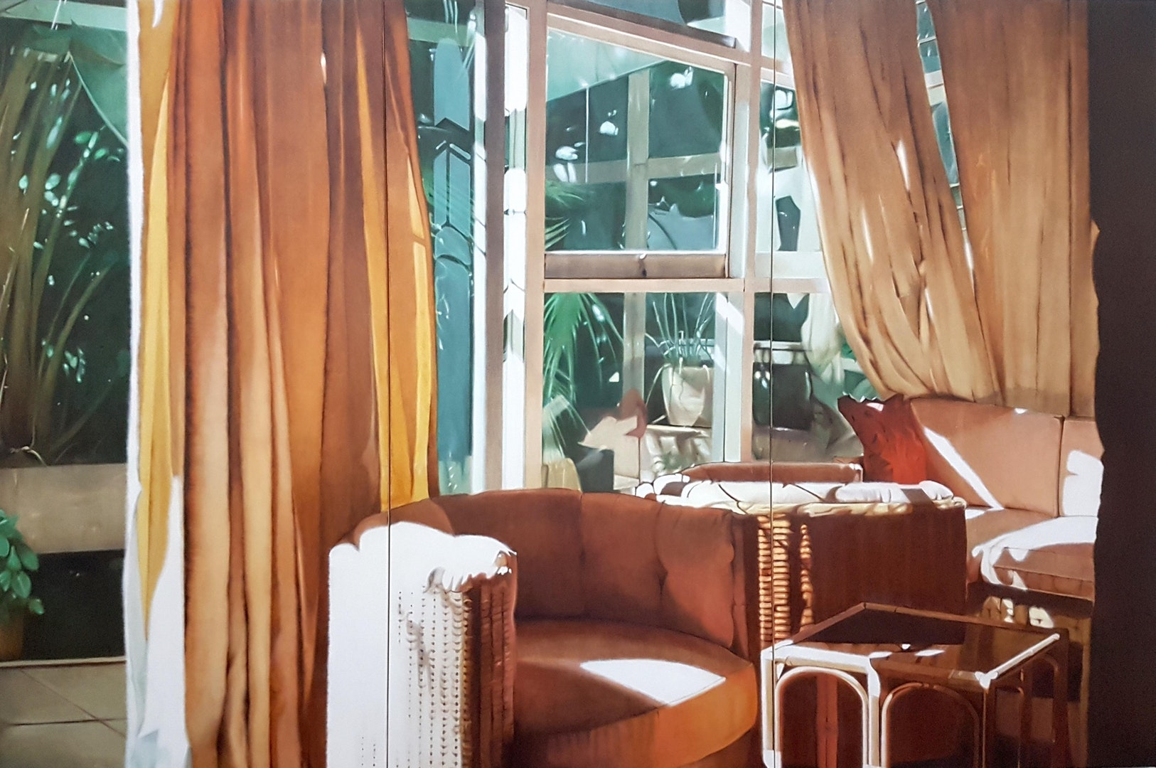'Interior with Bright Light', James Prapaithong, Oil on canvas, 200 x 300 x 5 cm