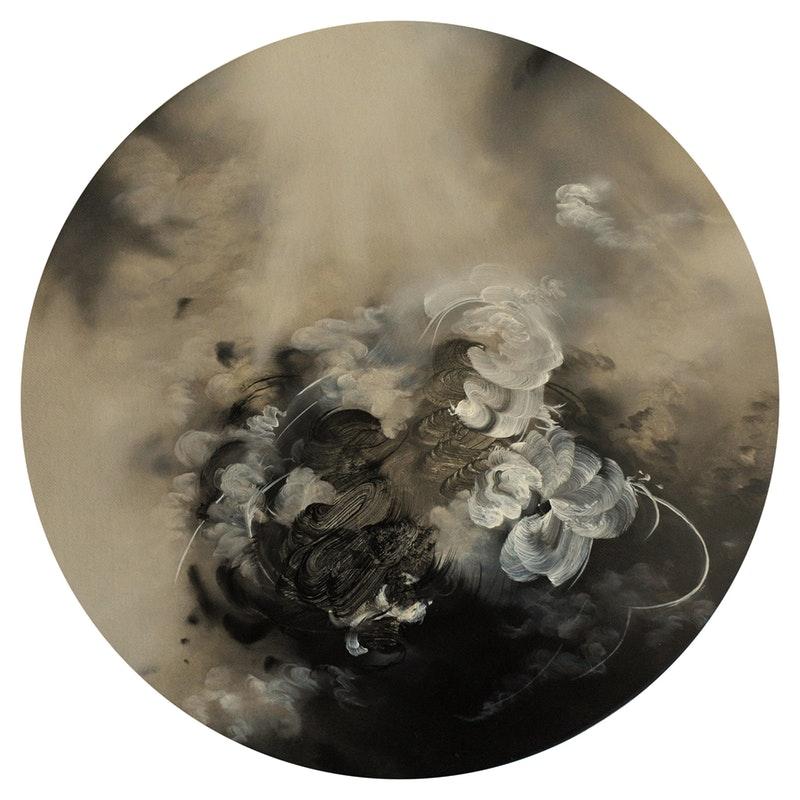 'Aerial', Jaya Mansberger, Oil on canvas, 30 x 30 x 2 cm