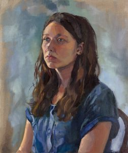 'Portrait of a Young Artist', Jenny Fay, Oil on linen, 61 x 51 x 2 cm