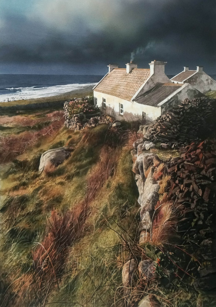'Winter Turf, Donegal', John Cooney, Watercolour, 71 x 49 cm