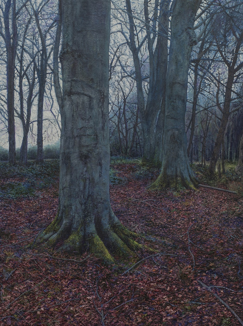 'At nightfall, they arrive everywhere and all at once', Jonathan Dickson, Oil on Canvas, 80 x 60 cm