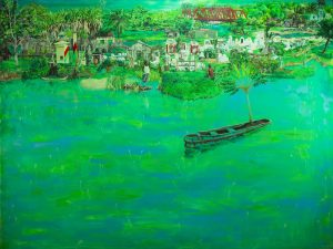 'Manakara', Josh Hollingshead, Oil and acrylic on canvas, 183 x 122 cm